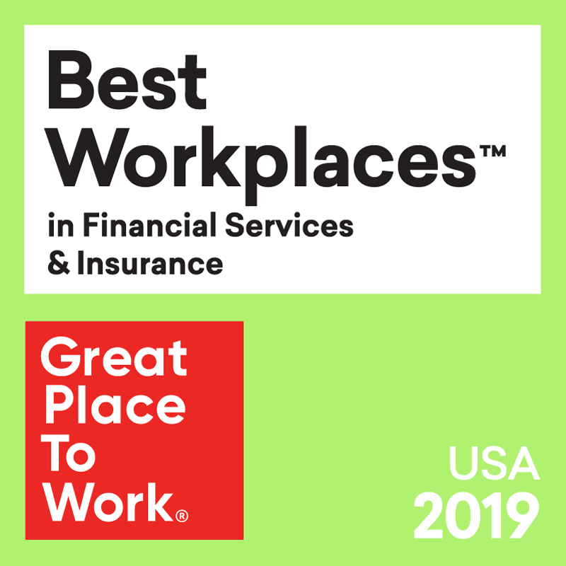 Best Workplaces in Financial Services & Insurance from Great Place to Work 2019